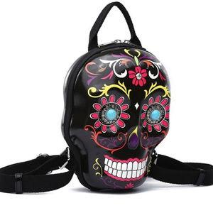 NEW Sugar Skull Mini 3D Backpack Crossbody Bag